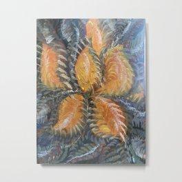 Fiery Flor Metal Print