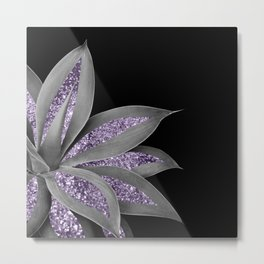 Agave Finesse Glitter Glam #3 #tropical #decor #art #society6 Metal Print