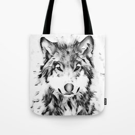 Watercolor Wolf Tote Bag