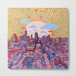 austin texas city skyline Metal Print