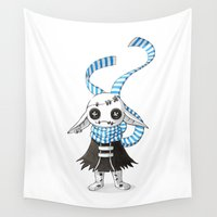 doll Wall Tapestries featuring Rag Doll by Freeminds