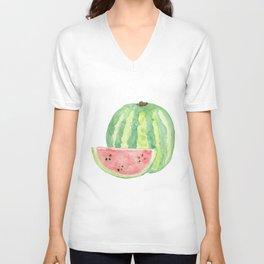 Watermelon Watercolour  Unisex V-Neck