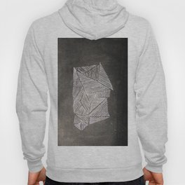 Black and White  Lines Hoody
