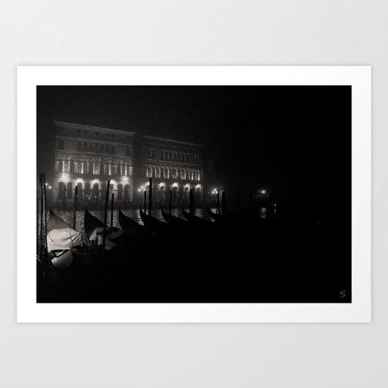A night in Venice Art Print