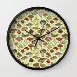 Mushroom Circle Wall Clock