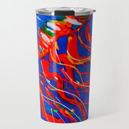 Red Jellyfish Travel Mug