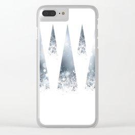 Geometric Winter Clear iPhone Case