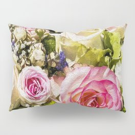 Shabby Roses Pillow Sham