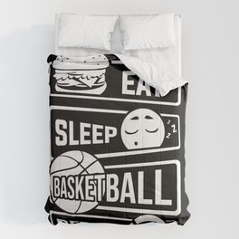 Eat Sleep Basketball Repeat - B-Ball Team Dunk Comforters