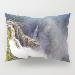 Wild waterfall in abstract Pillow Sham