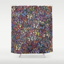 butterfly kaleidoscope Shower Curtain