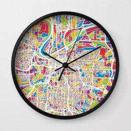 Kansas City Missouri City Map Wall Clock