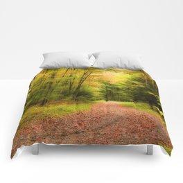 Autumn path II Comforters