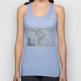 Vintage Map of South America (1762) Unisex Tank Top