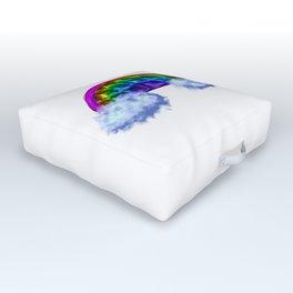 Rainbow Waffle! Outdoor Floor Cushion