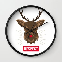 Respect the Glow Wall Clock