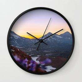 3 Sisters Sunset Wall Clock