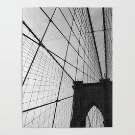 Brooklyn Bridge Black and White Poster