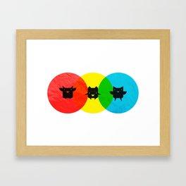 Technicolor Owls Framed Art Print