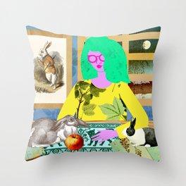 Rabbit Room Moon Throw Pillow