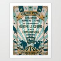 CIRQUE PRICE BLEU Art Print