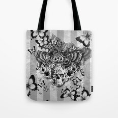 Lost and Found, floral owl with sugar skull Tote Bag