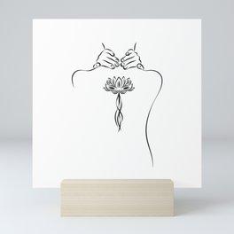 Lotus Girl Mini Art Print