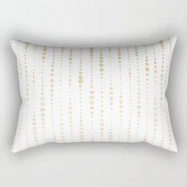 NYC Nights Gold Polka Dot Stripes Rectangular Pillow