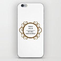 Thine Own Self iPhone & iPod Skin
