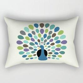 Peacock Time Rectangular Pillow