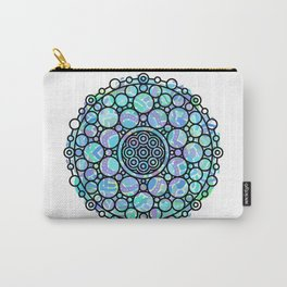 Modern Geometric Mandala Black and Mixed Colors Carry-All Pouch