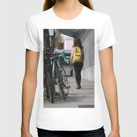 backpack T-shirts featuring Bikes and backpack by RMK Creative