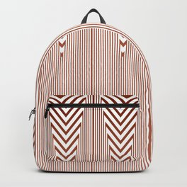 Art Deco Geometric Arrowhead Dusty Peach Design Backpack