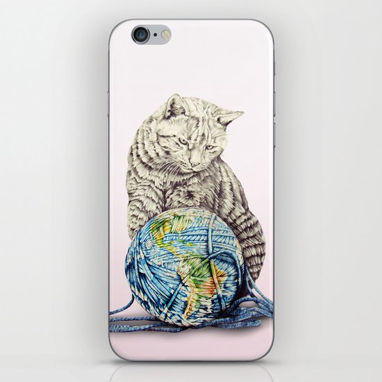 In which our feline deity shows restraint  iPhone Skin