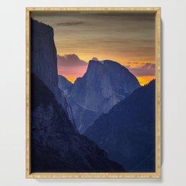 Half Dome Sunrise ~ Yosemite National Park Serving Tray
