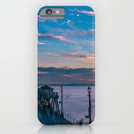 January Sunset from Huntington Beach Pier iPhone Case