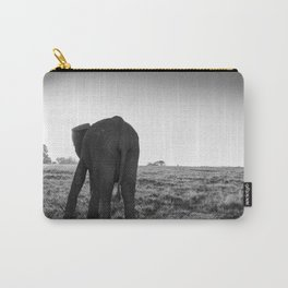 African elephant walking alone Carry-All Pouch