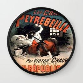 Vintage poster - Les Crimes de Peyrebeille Wall Clock