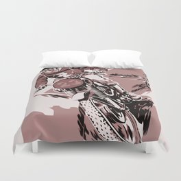 Motocross, the crosser Duvet Cover