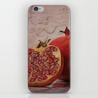 pomegranate iPhone & iPod Skins featuring pomegranate by lucyliu