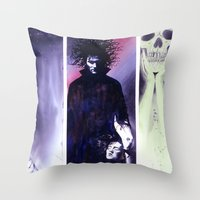 sandman Throw Pillows featuring Sandman: Triptych by kenmeyerjr