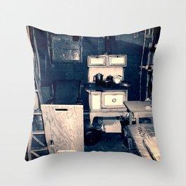 Vintage Cabin Interior Throw Pillow