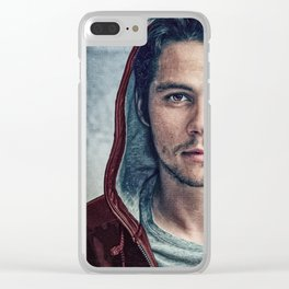 Stiles and his Red Hoodie Clear iPhone Case