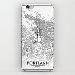 Minimal City Maps - Map Of Portland, Oregon, United States iPhone Skin