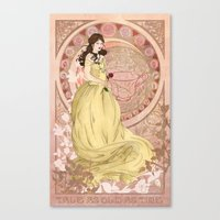 once upon a  time Canvas Prints featuring Once Upon a Time by Miss Morgan