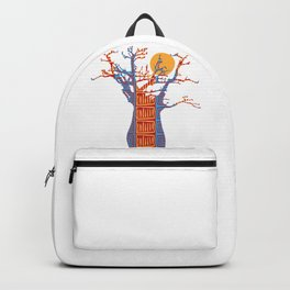 African Baobab tree of life at Sunset Backpack
