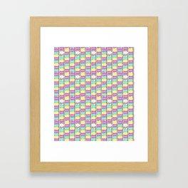 Macaron Stripes in Brown Framed Art Print