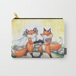 Fox Wedding  Carry-All Pouch