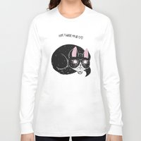 loll3 Long Sleeve T-shirts featuring Home is where my Cat is by lOll3