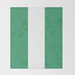 Flag of nigeria 2 -nigeria, nigerian,africa,hausa,igbo,Yoruba,Naira,Lagos,Kano Throw Blanket